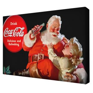canvas_print_Santa_Cocacola